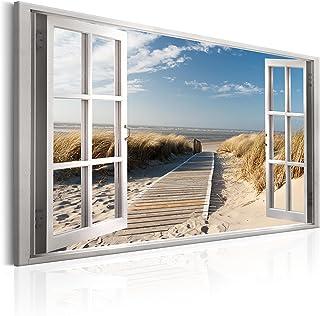 murando Impression sur Toile intissee Fenetre 120x80 cm Tableau Tableaux Decoration Murale Photo Image Artistique Photogra...