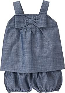 Baby Girls' Toddler Chambray Bow Front Set