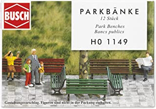 Busch 1149 Park Benches 12/HO Scale Scenery Kit