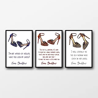 Set of 3 Carrie Bradshaw (Sex and the City) Shoe Quotes Unframed Prints