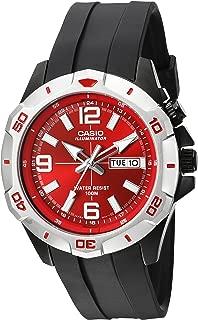 Men's MTD1082-4AV Super Illuminator Analog Quartz Black Resin Watch