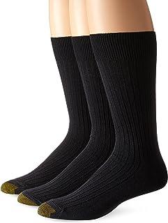 Gold Toe Men's Premium Canterbury Dress Crew Socks, 3-Pack