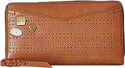 Caroline RFID Zip Around Wallet