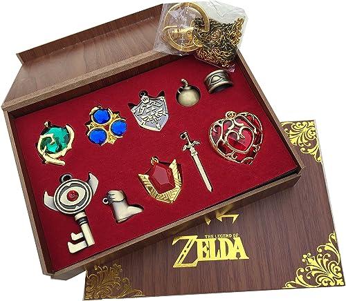 The Legend of Zelda Twilight Princess & Hylian Shield & Master Sword Juego de llavero/collar/serie de joyas