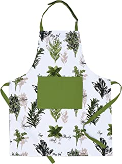 CASA DECORS Apron, Mother's Day Unique Herb Garden Design, Aprons for Women with Pockets, 100% Natural Cotton, Eco-Friendl...
