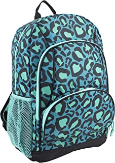 purple leopard backpack