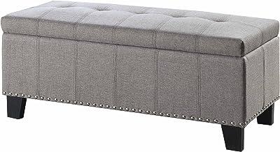 Homelegance 4614-F3 Storage Bench, Gray