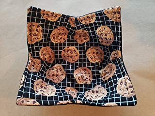 Chocolate Chip Cookie Microwave Bowl Cozy Baking Reversible Microwaveable Pot Holder Baker Cooking Rack Soup Bowl Holder Cooking Home Ec Teacher Handmade Housewarming Hostess Gifts Under 10