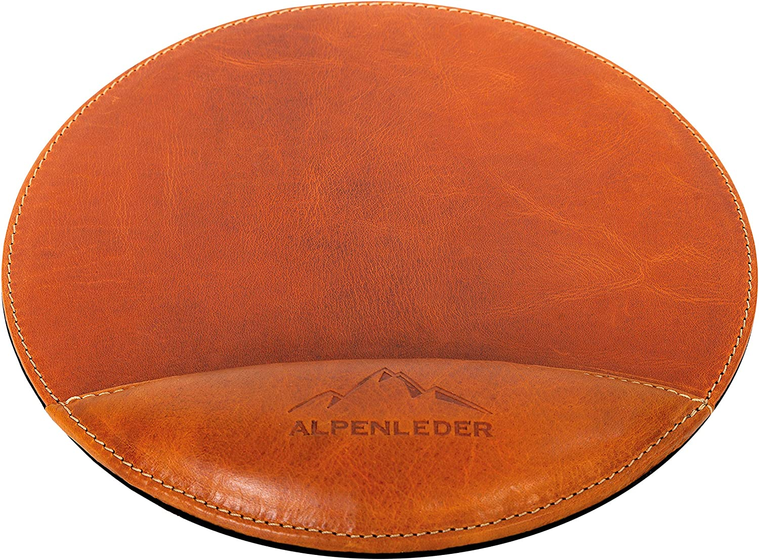 Alpenleder Mouse Max 66% OFF Pad MEERSBURG Made Leather Genuine Buffalo Brown of