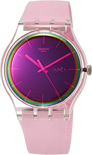 Swatch Womens Analogue Quartz Watch with Silicone Strap SUOK710
