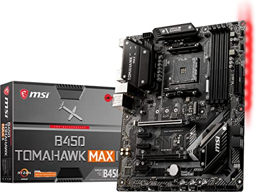 MSI Arsenal Gaming AMD Ryzen 2ND and 3rd Gen AM4 M.2 USB 3 DDR4 DVI HDMI Crossfire ATX Motherboard (B450 Tomahawk Max...