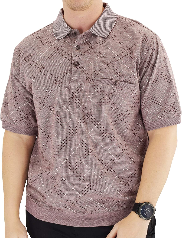 Classics by Palmland Short Sleeve Banded Bottom Polo Shirt 6191-414BT Burgundy