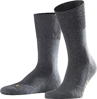 FALKE Laufsocken RUN Baumwolle Herren Damen schwarz grau viele weitere Farben dicke verstärkte Sportsocken ohne Muster mit mittelstarker Polsterung warm und lang zum Sport Jogging Plüschsohle 1 Paar