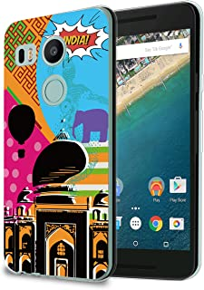 HelloGiftify Case for Nexus 5X, Pop Art India Taj Mahal View TPU Soft Gel Protective Case for LG Nexus 5X