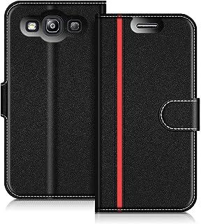 5303a150110 COODIO Funda Samsung Galaxy S3, Funda Cuero Samsung Galaxy S3 Neo, Funda  Cartera Samsung