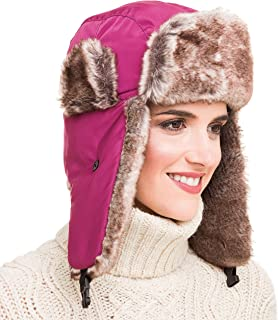 Trapper Bomber Hat for Men and Women Russian Warm Fur Ski Fall Winter Hunting