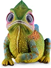 Solar Garden Decor Figurine - Chameleon Planter | LED Outdoor Decoration Figure | Light Up Decorative Statue Accents for Yard, Patio, Lawn, or Deck | Great Housewarming Gift Idea (Green)
