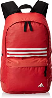 adidas Unisex Classic 3-Stripes Pocket M Backpack, Glory Red/Black/Alumina