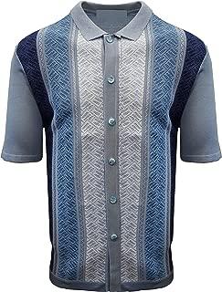 Stacy Adams Men's Short Sleeve Knit Sports Shirt - Modern Polo Vintage Classics: Mélange Panel