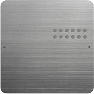 Three By Three Seattle Square Dot Magnetic Bulletin Board, 12 Inches, Stainless Steel, 1 Pack (32430)