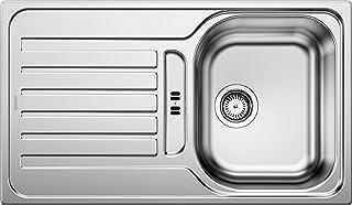 BLANCO LANTOS 45 S - Edelstahlspüle für 45 cm breite Unterschränke für die Küche - Leinen Optik - 514009