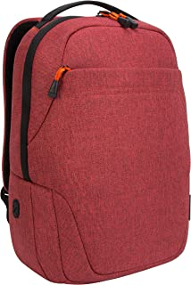 Targus TSB95202GL Groove X2 Compact Backpack designed for MacBook 15-Inch & Laptops up to 15-Inch, Dark Coral