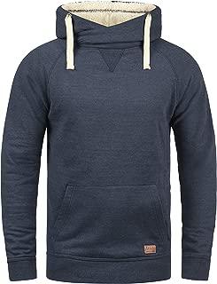 Blend Sales Herren Kapuzenpullover Hoodie Pullover Mit Kapuze Cross-Over-Kragen Und Fleece-Innenseite