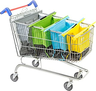 comprar comparacion Trolley Original Pastel - Set de 4 Bolsas de la Compra Reutilizables para Carrito