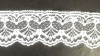 2'' Floral White Lace, White Scalloped Net Lace -10 Yards Trim Ribbon DIY Craft Trim Bridal Weddings