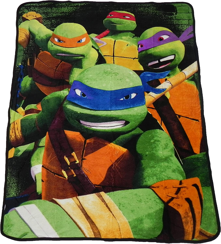 Teenage Mutant Ninja Turtles Micro Raschel Throw - 46  x 60