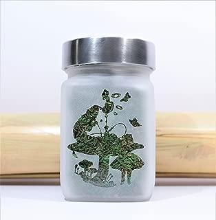 Alice in Wonderland Hookah Smoking Caterpillar Stash Jar - Weed Accessories, Stoner Gear & Stash Jars by Twisted420Glass