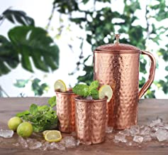 Best copper jug and glass set Reviews