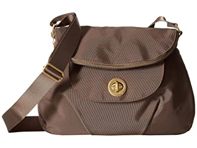 Baggallini International Kuala Flap Zip Hobo (Portobello) Hobo Handbags
