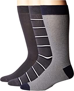 Lacoste - 3-Pack Striped Jersey Cotton Blend Socks