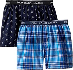 Polo Ralph Lauren Kids 2-Pack Woven Boxers (Little Kids/Big Kids)