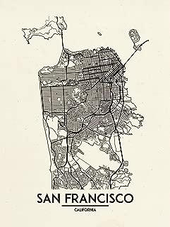 Inked and Screened San Francisco - Street Map - Hand Made Screen Print - 18