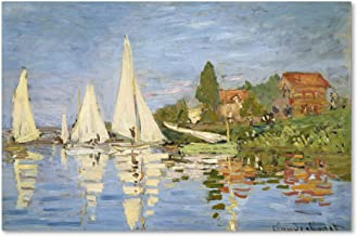 Regatta at Argenteuil by Claude Monet work, 30 by 47-Inch Canvas Wall Art