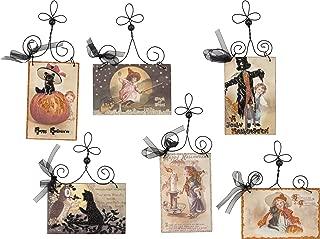 PBK Halloween Decor - Vintage Wood Signs Postcard 6pc Set #30326