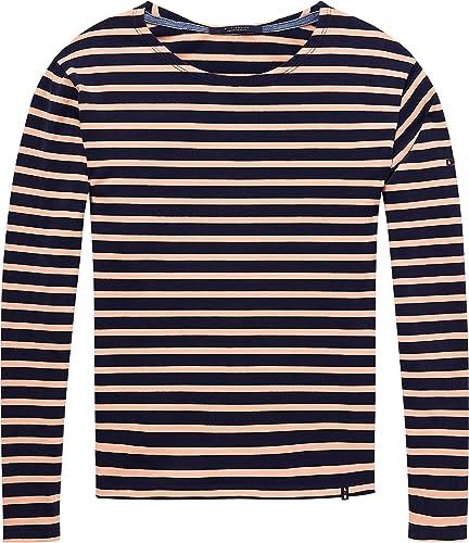 Scotch & Soda Damen Boyfriend Fit Long Sleeve Tee in Breton Stripes T-Shirt