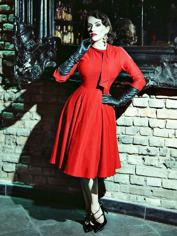 Miusol Womens Retro Style Half Collar Casual Party Swing Dress