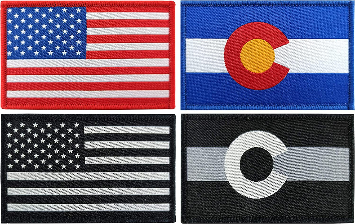 QQSD 4 Pack Free Shipping New Colorado Flag Prid States Super beauty product restock quality top! Patch Tactical Flags