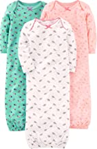 Simple Joys by Carter's Baby Girls' 3-Pack Cotton Sleeper Gown