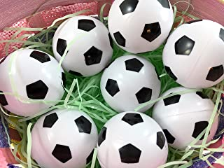 Easter Decorations Fillable Eggs - Set of 6 Sports Eggs (Soccer Eggs)