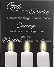"Hosley Inspirational God Serenity Wall Decor Canvas with LED Lights- 15"" High. Ideal Gift for Home, Party Favor, Weddings, Spa, Reiki, Meditation, Prayer Dorm Settings O9"