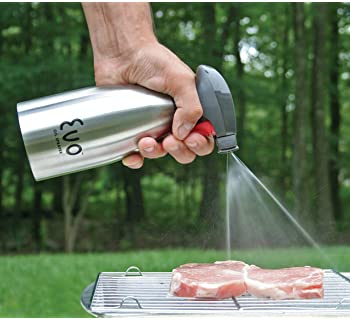 Evo Oil Sprayer Bottle, Non-Aerosol for Olive Oil and Cooking Oils