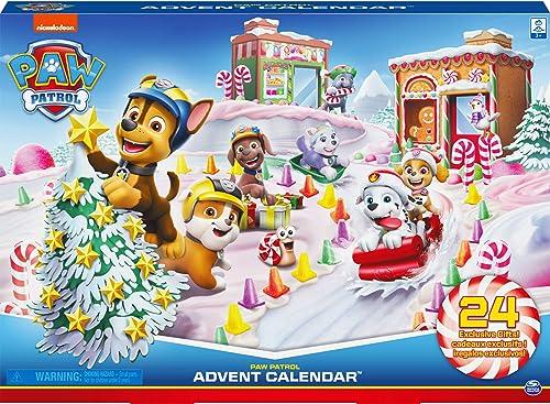 LA PAT' PATROUILLE – CALENDRIER DE L'AVENT PAT' PATROUILLE – Calendrier Avent pour Noël composé de Figurines et d'Acc...