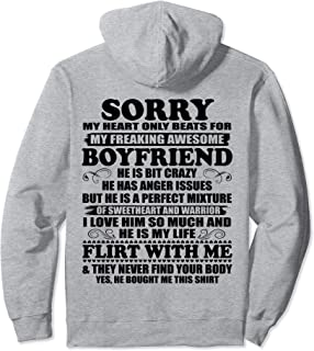 Sorry My Heart Only Beats for My Freaking Awesome Boyfriend Pullover Hoodie