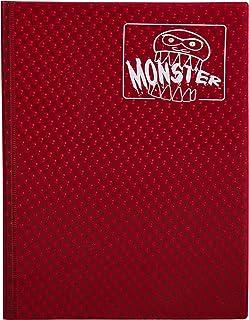 Monster Binder - 9 Pocket Trading Card Album - Holofoil Red (Anti-Theft Pockets Hold 360+ Cards)