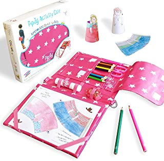 Pipity Arts and Crafts for Kids. Kits with Stationery set + Kids Activity Books: Paper Craft, Art, Travel Games and Puzzle...