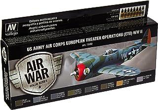 """Acrylicos Vallejo""""US Air Corps européen Theatre Opérations ETO WWII"""" modèle Air Ensemble"""